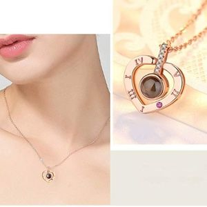 Gold Heart I love you Necklace